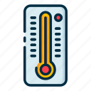 climate, forecast, meteorology, thermometer, weather icon