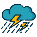 climate, forecast, meteorology, thunderstorm, weather icon