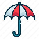 climate, forecast, meteorology, umbrella, weather icon