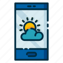 apps, climate, forecast, meteorology, weather icon