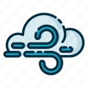 climate, forecast, meteorology, weather, windy icon