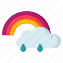 climate, cloudy, forecast, meteorology, rainbow, weather icon