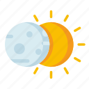 climate, eclipse, forecast, meteorology, weather icon