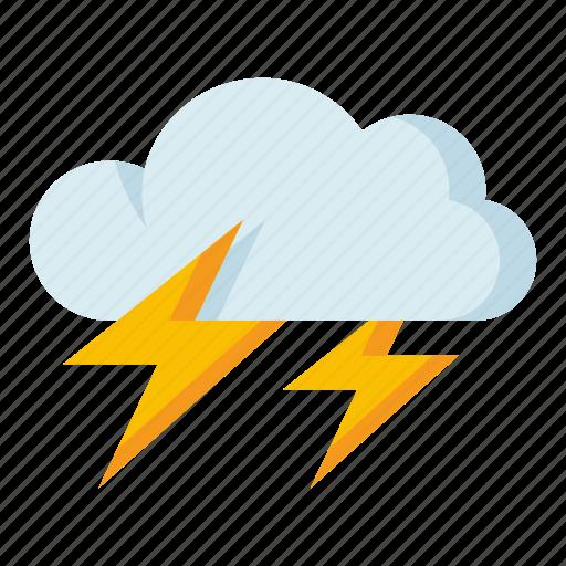 climate, forecast, lightning, meteorology, weather icon