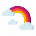 climate, forecast, meteorology, rainbow, weather icon