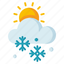 climate, day, forecast, meteorology, snowy, weather icon