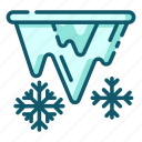 climate, forecast, icicles, meteorology, weather icon
