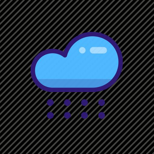 cloud, forecast, rain, snow, weather, weather icon, winter icon icon