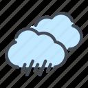 cloud, drop, rain, weather icon