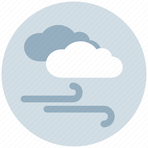 cloud, clouds, cool weather, meteorology, weather, wind icon