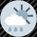 cloud, day, forecast, rain, rainy, sun, weather