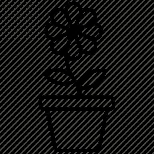 flower, flower pot, gardening plant, houseplant, nature, organic plant icon