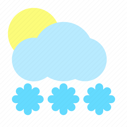 apps, cloud, freeze, snow, sunny, weather icon