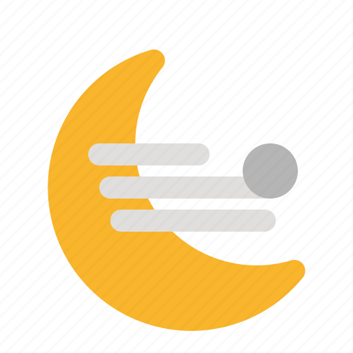 air, apps, moon, weather, wind, wind direction icon