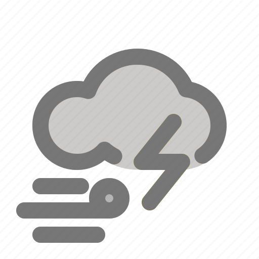 cloud, thunder, weather, wind, wind direction icon