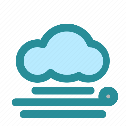 cloud, weather, wind, wind direction icon