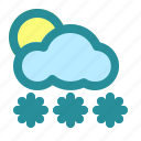 apps, cloud, cloudy, cold, freeze, snow, weather icon