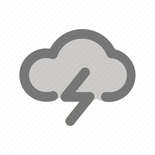 apps, cloud, cloudy, thunder, weather, wind icon