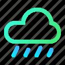 cloud, rain, rainy, sky, weather icon