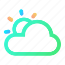 cloud, day, summer, sun, sunny, weather icon