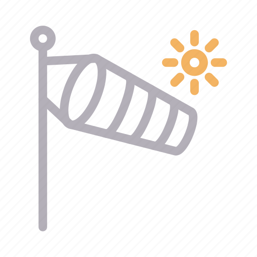 airflow, climate, direction, sock, summer icon