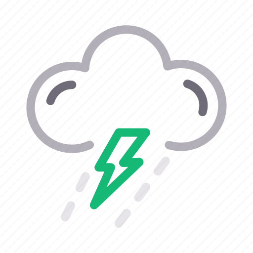 climate, cloud, storm, thunder, weather icon