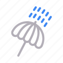 climate, forecast, rain, umbrella, weather icon