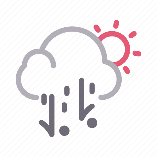 climate, clouds, summer, sun, weather icon