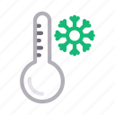 climate, fahrenheit, temperature, thermometer, weather icon