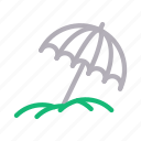 beach, climate, rain, umbrella, weather icon