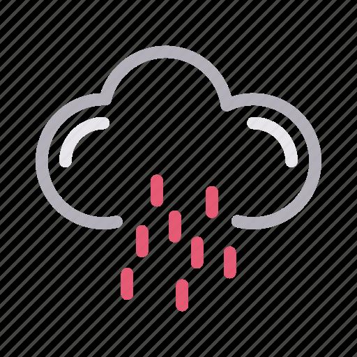 climate, drops, forecast, rain, weather icon
