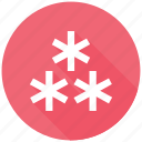 cool, frost, snow, snowflakes, weather icon