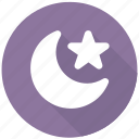 crescent, fairy, moon, night, star, weather