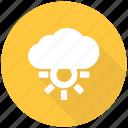 cloud, forecast, sun, weather
