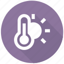 control, hot, sun, temperature, thermometer, weather icon