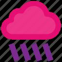 cloud, cloudy, rain, rainy, weather icon