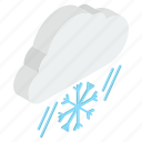 blizzard, cold weather, freezing weather, snow, snowfall, snowstorm icon