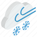 cold weather, snowfall, snowstorm, storm, wind, winter icon