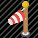 flagpole, weather instrument, wind direction, windsock icon