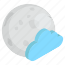 atmosphere, cloudy night, night time, night weather, weather icon
