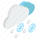 blizzard weather, downpour, sleet, snowfall, snowstorm icon