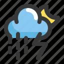 climate, cloud, forecast, moon, rain, thunder, weather