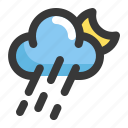 climate, cloud, forecast, moon, night, weather