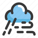 climate, cloud, forecast, rain, storm, weather, wind icon