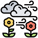 breezy, cloud, nature, plant, wind icon