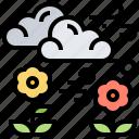breezy, cloud, nature, plant, wind icon