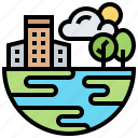 biosphere, climate, environment, nature, weather icon