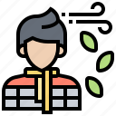 autumn, cold, man, sweater, winter icon