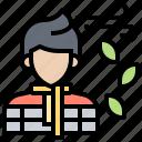 autumn, cold, man, sweater, winter icon