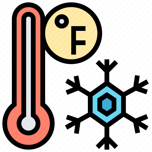 fahrenheit, snowflake, temperature, thermometer, winter icon